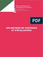 """Premier rapport du groupe """"Moyens de contrôle et d'évaluation"""""""