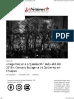 «Hagamos Una Organización Más Allá Del 2018» Concejo Indígena de Gobierno en Chiapas