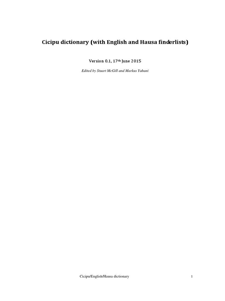 cicipu dictionary pdf | Languages