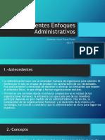 diferentes enfoques administrativos