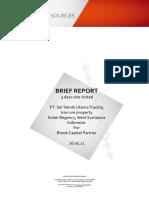 Brief Site Visit Report