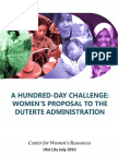 Cwr_ulat Lila July 2016_a Hundred-day Challenge, Women's Proposal to the Duterte Administration