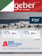 Ratgeber aus Ihrer City-Apotheke – Dezember 2017