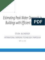 Estimating Peak Water Demands in Buildings With Efficient Fixtures by Steven Buchberger