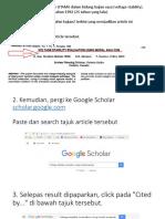 Tips Google Scholar