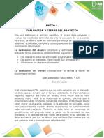 Anexo 1 - Evaluación y cierre del proyecto