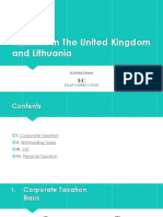 Taxation in The United Kingdom and Lithuania