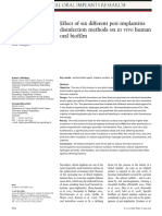 Effect of Six Different Periimplantitis Disinfection Methods on in Vivo Human Oral Biofilm
