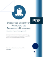 Desempeño Operativo y Financiero Del Transporte Multimodal (Semi Final)