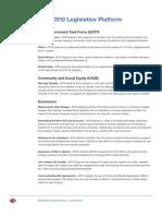 MYD Legislative Platform 2010