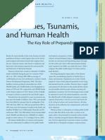 Cyclones, Tsunamis, and Human Health