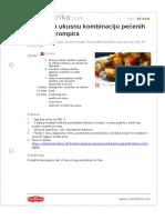 Recept Za Ukusnu Kombinaciju Pecenih Tikvica i Krompira