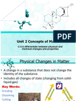 phyiscal chemical changes and states of matter