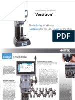 Rockwell Hardness Tester Versitron Spec Sheet
