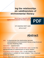 Modeling the Relationships Between Subdimensions of Environmental Literacy