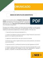 Comunicado - Nuevo TUPA