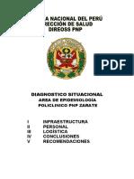 Diagnostico Situacional de Servicio Epidemiologia Pol Pnp Zarate 2016