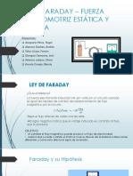 Ley de Faraday – Fuerza Electromotriz Estática y Cinetica