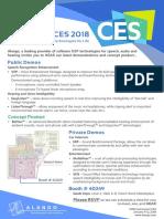 CES2018 Invitation Alango