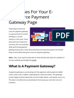 Test Cases for Your E-commerce Payment Gateway Page _ LoginRadius Fuel