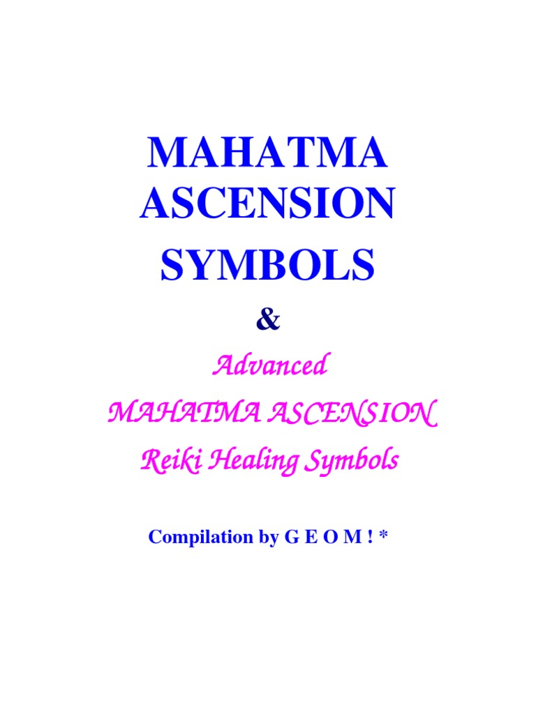 Mahatma Ascension Symbols Qi Reiki