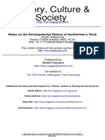 Habermas - Notes on the Developmental History of Horkheimer's Work