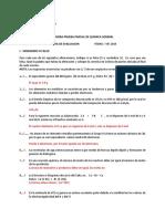 Pauta Evaluación I P.P.quimica