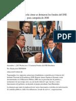 Testigo Clave Revela Cómo Se Drenaron Los Fondos Del INE Para Campaña de JOH