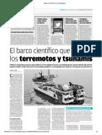 El Mercurio de Antofagasta Estudios de Los Sismos en Barco