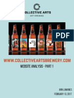 Website Analysis  - Collective Arts Brewery - Part 1