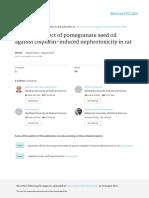 Actividad del aceite de semilla de granada frente a nefrotoxicidad inducida por CIS Platino