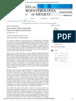 Úlcera Péptica, AINEs y Helicobacter _ Revista de Gastroenterología de México