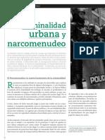 Criminalidad Urbana y Narcomenudeo
