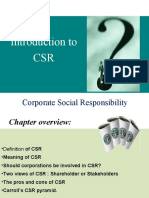Introduction to CSR
