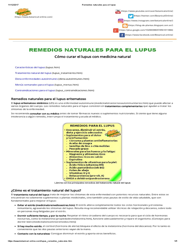 tratamiento natural de la lupus eritematoso sistemico