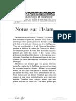 Notes sur l'Islam 1