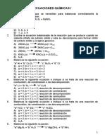 Hoja 22 Balance Ecuaciones Químicas