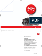 Manuale Installazione Decoder Alice Home TV (Pirelli)