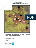 Development and Application of Flood Vulnerability Indices for Various Spatial Scales
