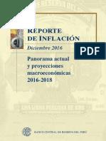 Reporte de Inflacion Diciembre 2016