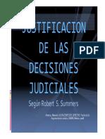 Justificacion de Las Decisiones Judiciales