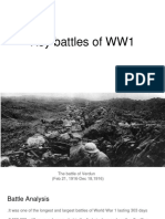 key battles of ww1