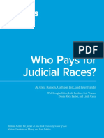 Who Pays for Judicial Races? The Politics of Judicial Elections 2015-16