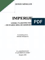 Herfrid Minkler - Imperije logika vladavine svetom