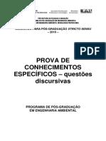 Prova Selecao Mestrado Discursivas2010