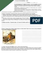 Avaliação 3 Ano - Primeira Guerra - Rev Russa - Crise de 1929