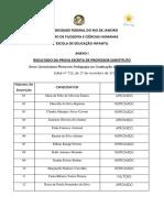 Ed. 723 Resultado Prova Escrita e Horrio Didatica