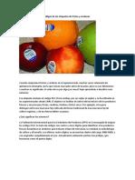 Códigos de Las Etiquetas de Frutas y Verduras