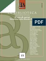 Revista La Biblioteca 2015 Nro 15 Dossier Piglia