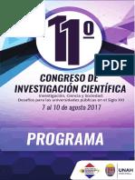 Programa Congreso de Investigacion Cientifica 03-8-2017